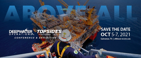 Deepwater Operations / Topsides, Platforms, and Hulls 2021 conference and exhibition in Galveston, Texas. October 5-7, 2021.